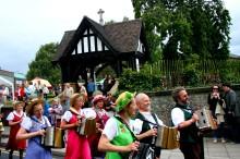 Morris dancers in procession