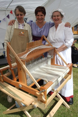 Loom with a view... Joy and Margaret wearing a couple of their costume creations