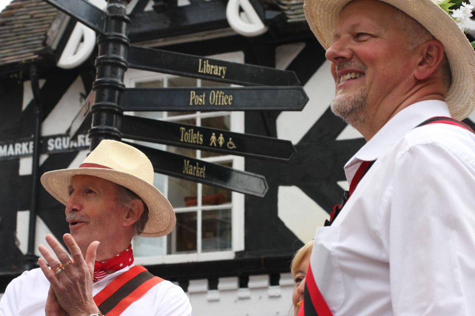 Morris men in Market Square