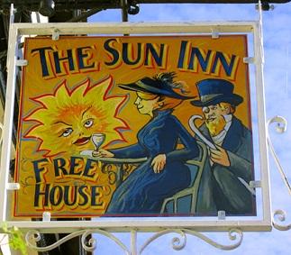 sun inn sign