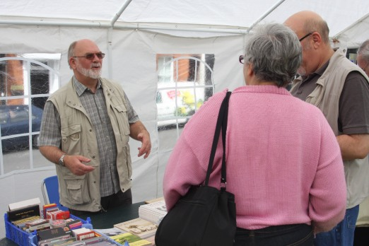Allan Frost at the History Group stall