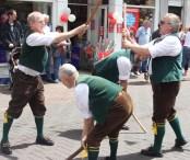 Morris dancers in the Square