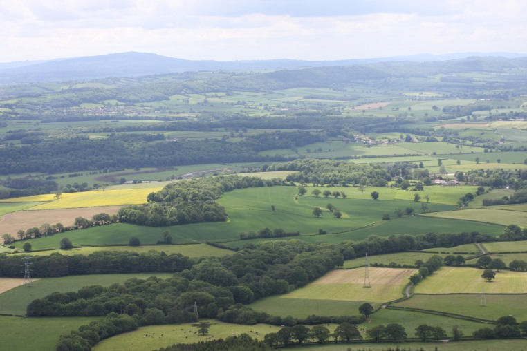 Did this view from The Wrekin inspire Tolkein's vision of The Shire? Maybe, maybe not!