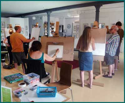 Art classes at One Walker Street, the old YCMA building