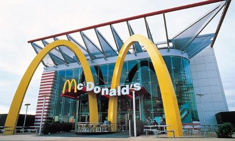 The rebuilt Charlton School, now McDonald's Academy... a controversial sponsor