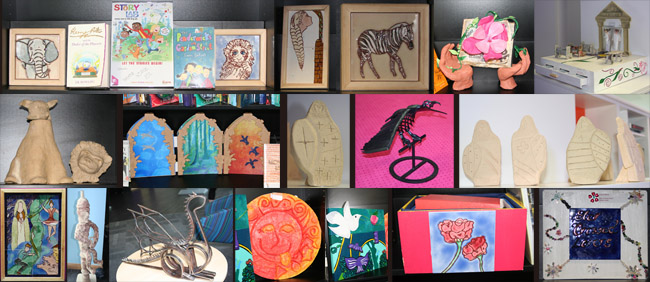 work by Madeley Academy students as part of a Mythstories project