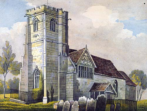 St Lucia's Church, Upton Magna - between Wellington and Shrewbury. Plimmer was christened here in July 1812.