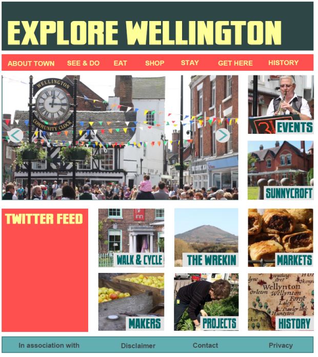 Explore Wellington mock up
